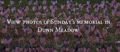 View photos of Sunday's memorial in Dunn Meadow